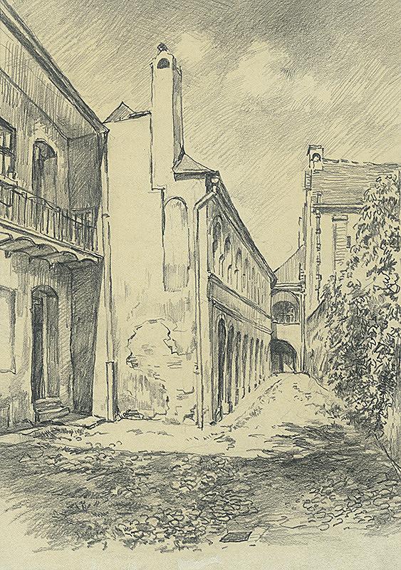 Vojtech Šipoš – Dvor na Mäsiarskej ulici v Košiciach
