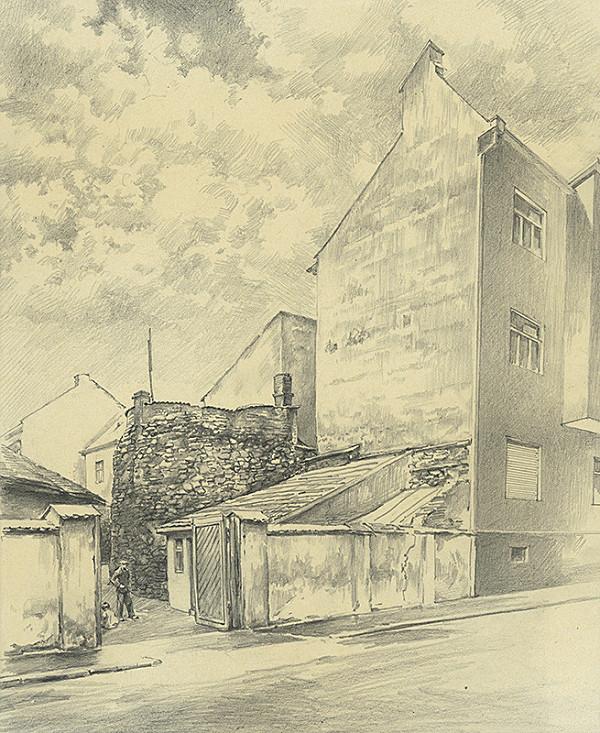 Vojtech Šipoš – Zbytky hradieb na Čajkovského ulici v Košiciach