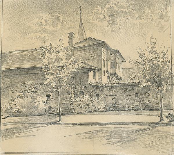 Vojtech Šipoš – Katova bašta s Rákocziho domom v Košiciach