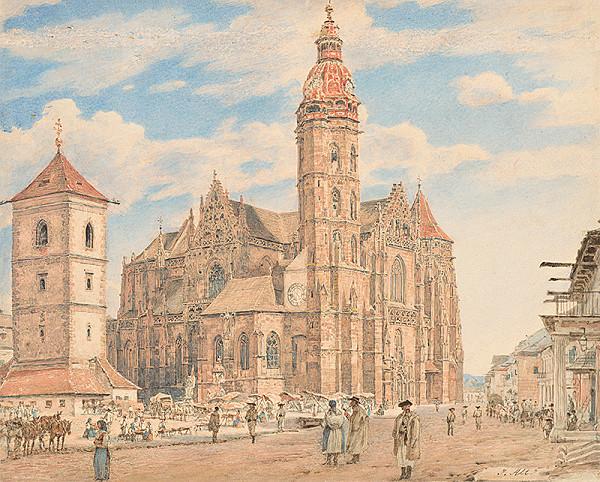 Jakob Alt – Námestie pred košickým dómom