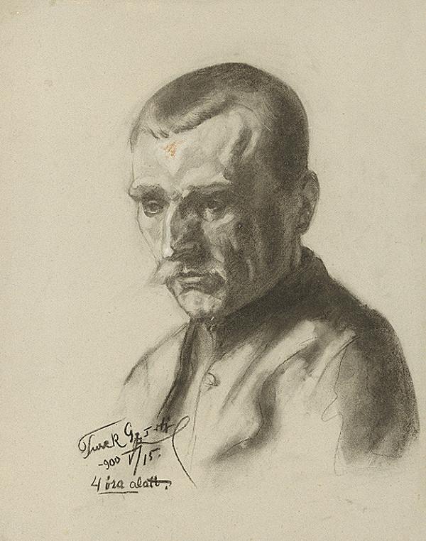 Július Török – Štúdia hlavy muža