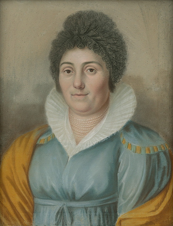 Východoslovenský maliar z 1. polovice 19. storočia – Podobizeň dámy