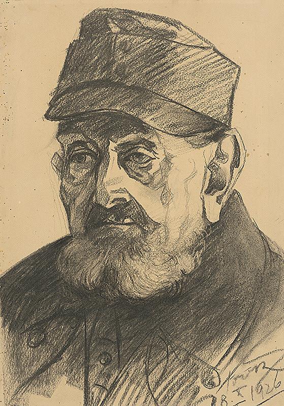 Július Török – Štúdia k podobizni starého muža