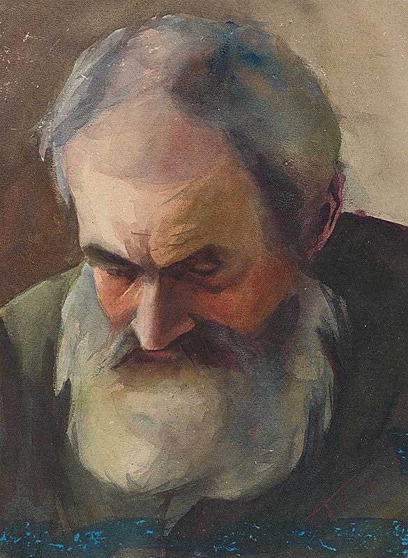 Július Török – Podobizeň staršieho muža s bradou