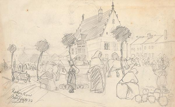 Ernest Rákosi – Na trhu v Bardejove II.