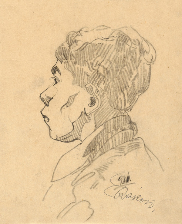 Ernest Rákosi – Skica hlavy chlapca