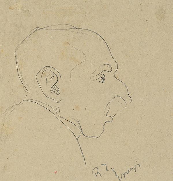 Ernest Rákosi – Skica mužskej hlavy