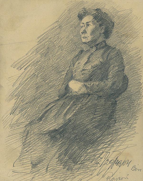 Ernest Rákosi – Štúdia sediacej ženy