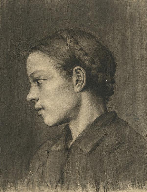 Július Éder – Hlava dievčaťa