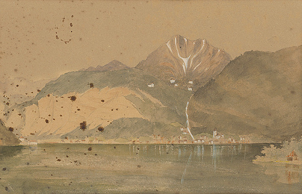 Zigmund Bubics – Jazero s horami v pozadí