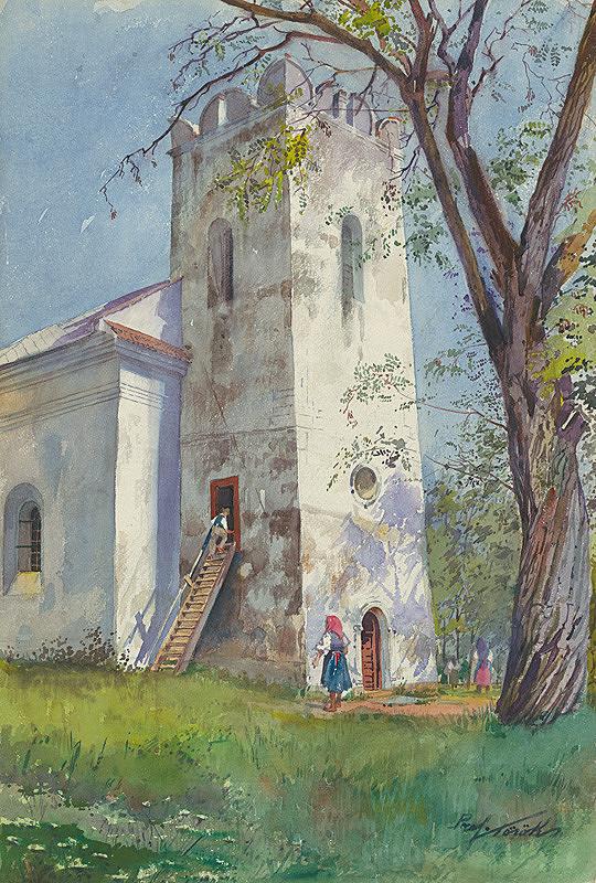 Július Török – Kostol s renesančnou vežou