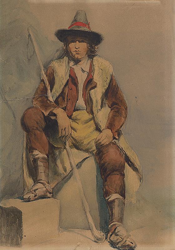 Vojtech Klimkovič – Štúdia sediaceho muža z Albánie