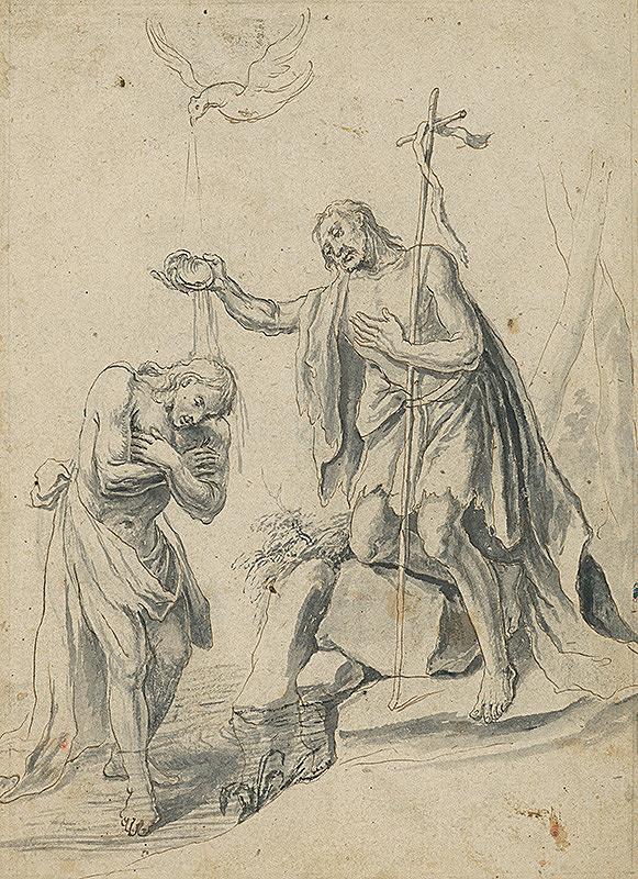 Vojtech Klimkovič - Náčrt k oltárnemu obrazu Krst Krista
