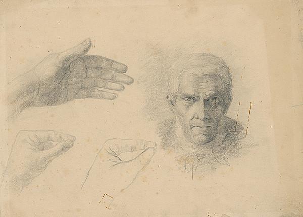 Ľudovít Čordák - Štúdia hlavy starca a ruky