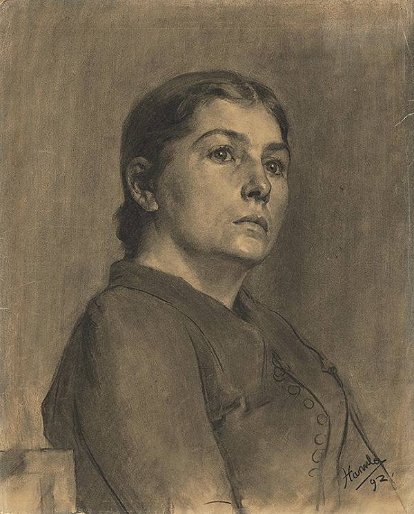 Jozef Hanula - Štúdia k podobizni ženy