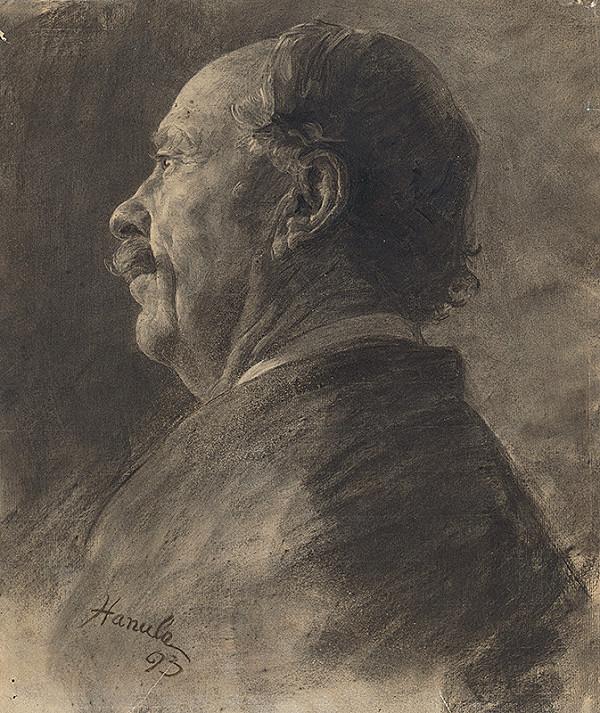 Jozef Hanula - Štúdia k podobizni muža s fúzami