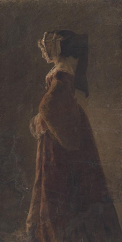 Jozef Hanula – Podobizeň dámy so závojom (šľachtičná)