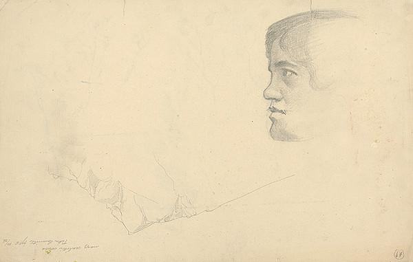 Ferdinand Katona - Štúdia hlavy dievčaťa