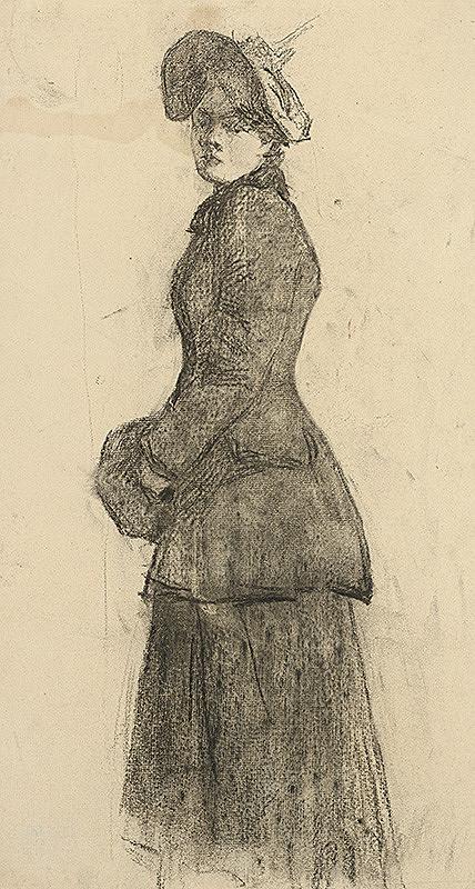 Ákos Aranyossy - Štúdia dámy s rukávnikom