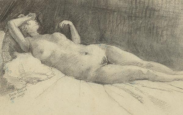 Konštantín Bauer – Akt ležiacej ženy
