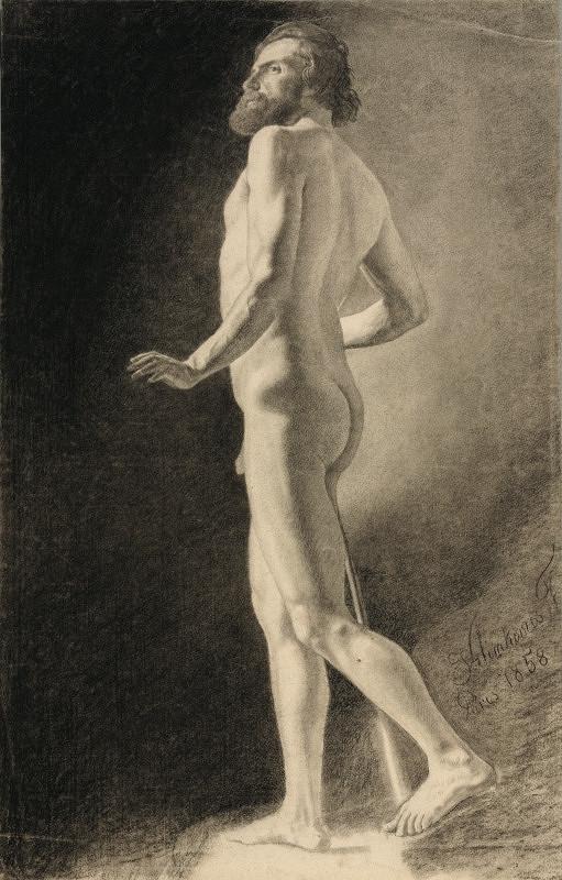 František Klimkovič - Štúdia aktu muža