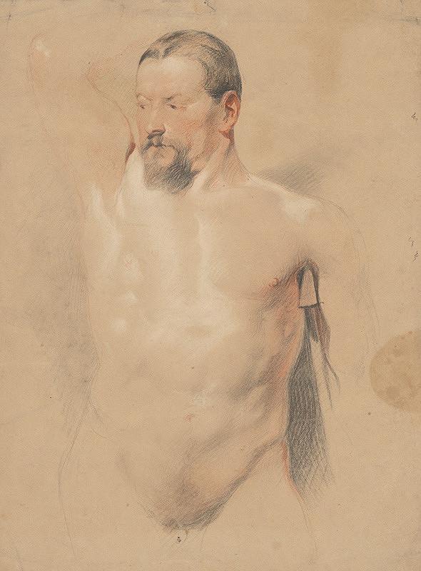 Stredoeurópsky maliar z 2. polovice 19. storočia – Štúdia mužského aktu