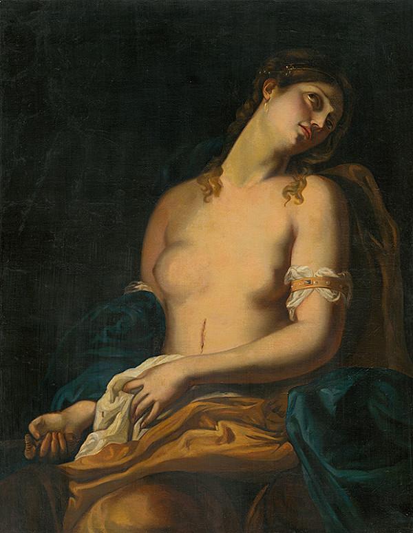 Západoeurópsky maliar z 2. tretiny 19. storočia - Žena s dýkou