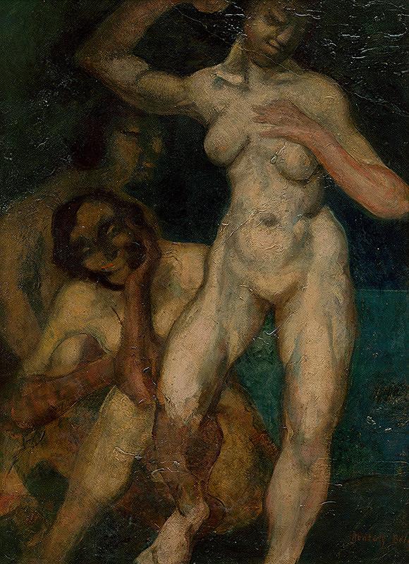 Béla Nemessányi Kontuly - Kompozícia ženských aktov
