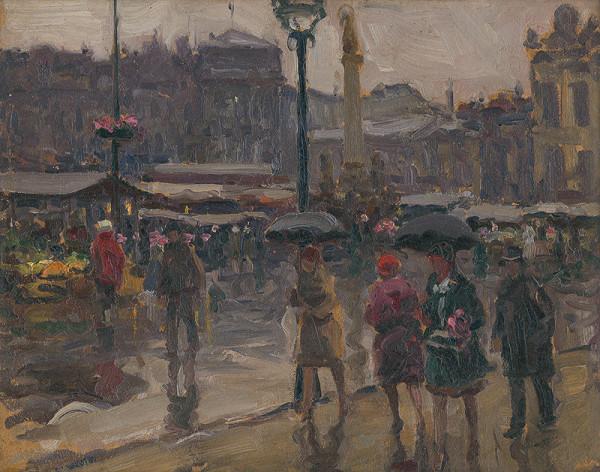 Jozef Theodor Mousson - Uhoľný trh v Ostrave