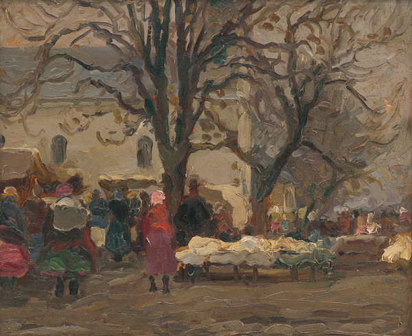 Jozef Theodor Mousson - Na trhu pred kostolom