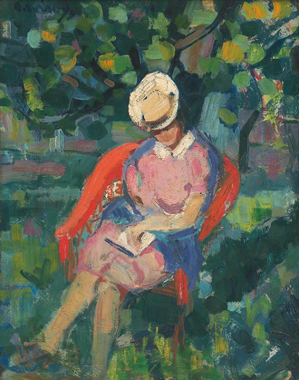 Juraj Collinásy – Sediaca žena s knihou