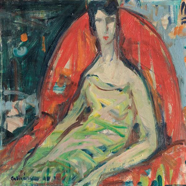Juraj Collinásy – Žena v červenom kresle