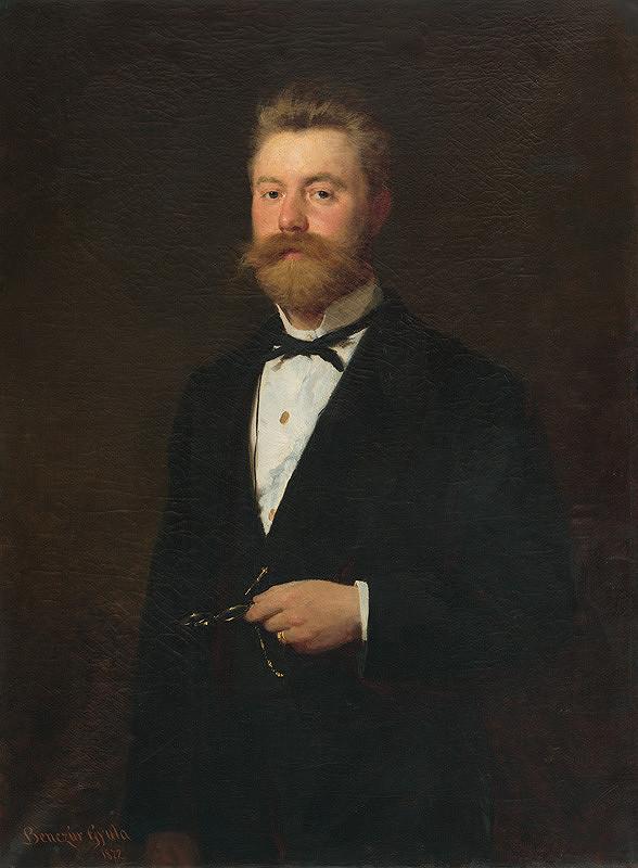 Gyula Benczúr - Oficiálna podobizeň muža. Podobizeň Gejza Bencúr.