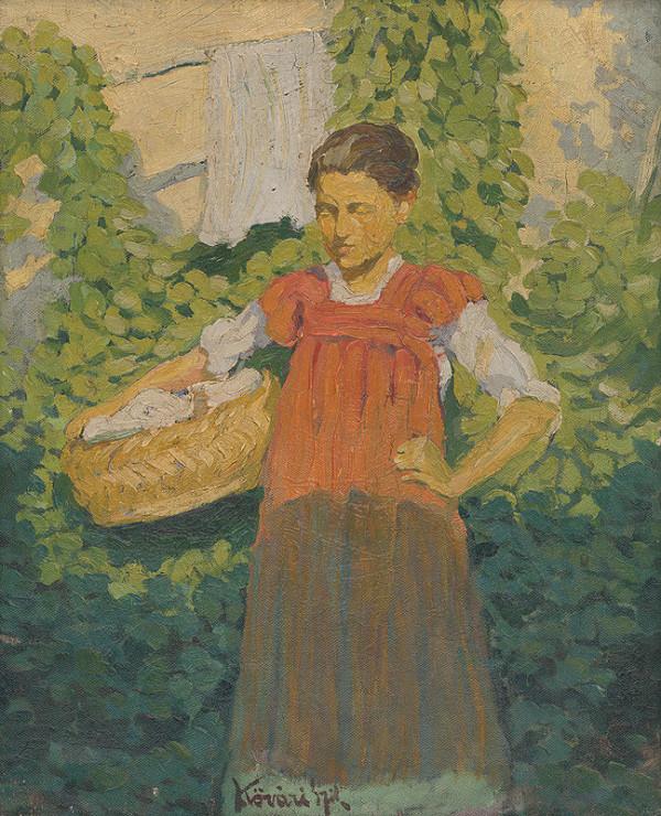 Konštantín Kövári-Kačmarik – Dievča s košom