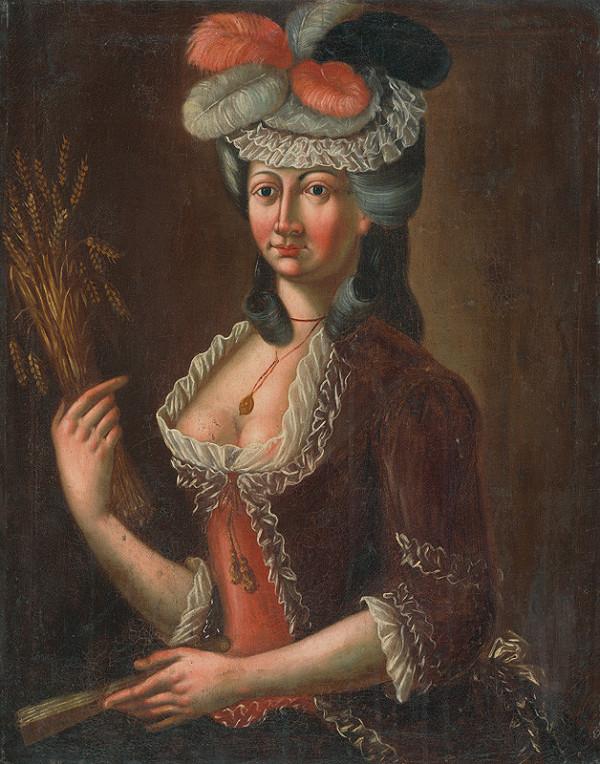 Stredoeurópsky maliar z 2. polovice 18. storočia - Podobizeň dámy s klasmi