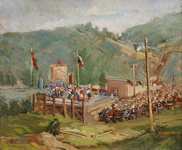 Vojtech Kalna – Oslava na stavbe