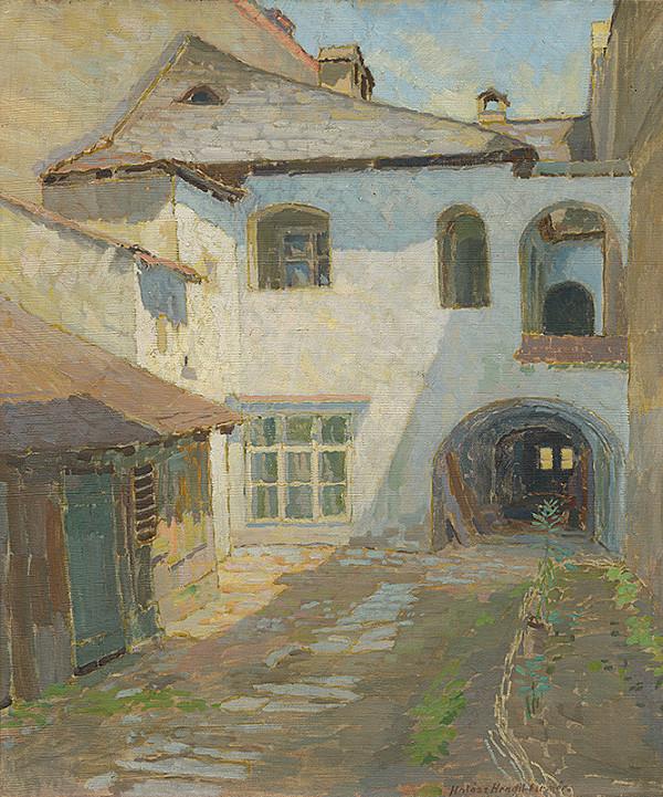 Elemír Halász-Hradil - Vnútro dvora