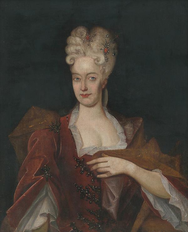 Stredoeurópsky maliar z 1. polovice 18. storočia - Podobizeň manželky Rákocziho II. Amálie Šarlotty Hesse-Reinfelssovej