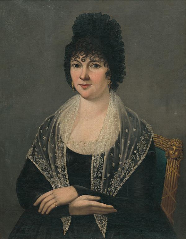 Ján Rombauer - Podobizeň dámy v čiernom