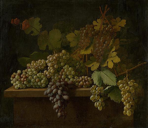 Stredoeurópsky maliar z 2. polovice 19. storočia - Zátišie s hroznom