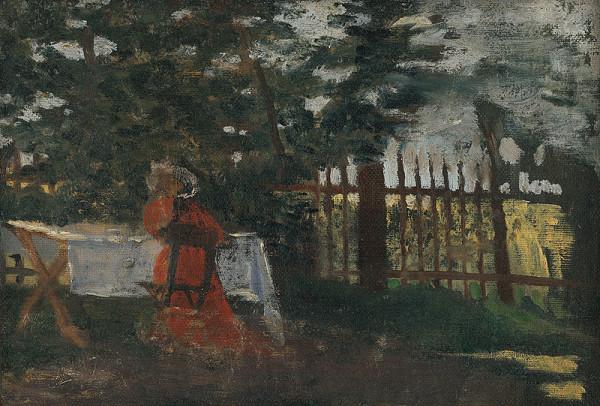 Konštantín Kövári-Kačmarik - V záhrade
