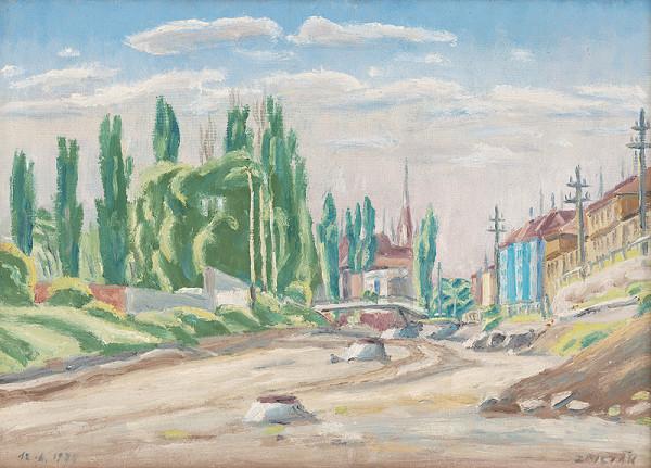 Ernest Zmeták - Výstavba cesty na Gottwaldovej ulici