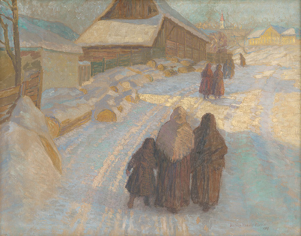 Elemír Halász-Hradil – Zima na dedine