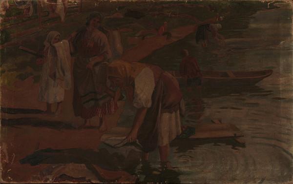 Slovenský maliar z 1. polovice 20. storočia – Práčky