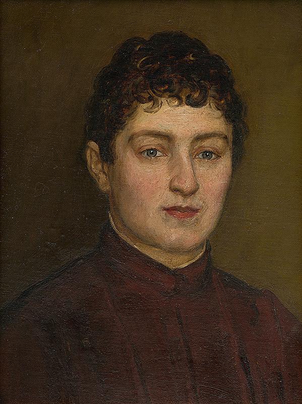 Slovenský maliar zo začiatku 20. storočia - Podobizeň ženy s krátkymi vlasmi