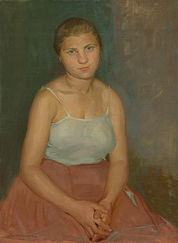 Július Bukovinský - Sediace dievča