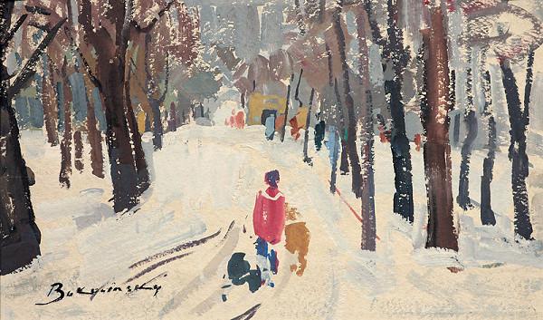 Július Bukovinský – Petrovov sad v zime