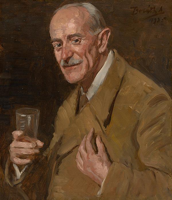Andor Borúth – Podobizeň muža s pohárom v ruke