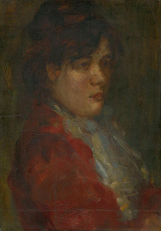 Konštantín Kövári-Kačmarik – Podobizeň dievčaťa v červenom