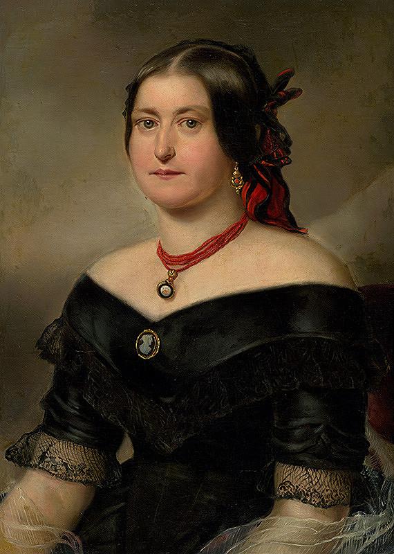 Stredoeurópsky maliar z 2. polovice 19. storočia - Podobizeň ženy